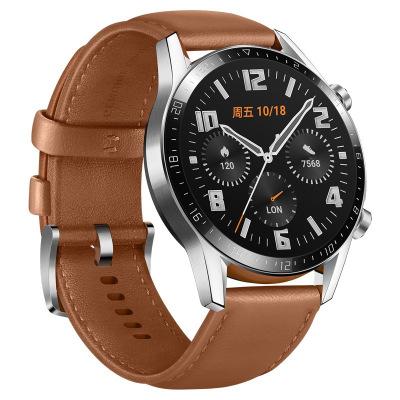 HUAWEI/华为 WATCH GT 2 砂砾棕(46mm)麒麟芯片强劲续航蓝牙通话运动智能手表