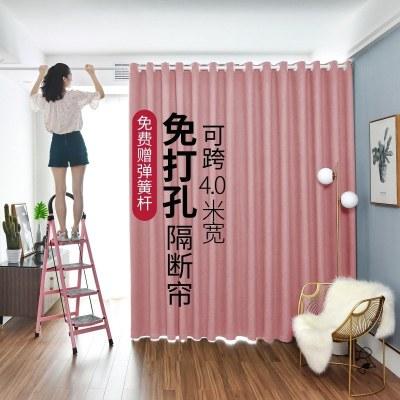 門簾隔斷簾擋風免打孔家用遮擋簾子客廳窗簾房間空調臥室布藝廚房夏天