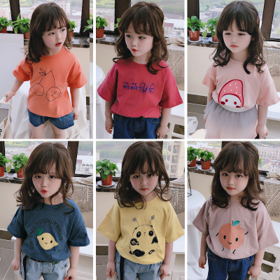 童裝2020夏季 中小童兒童短袖T恤 男女童寶寶可愛圓領打底衫上衣威珺