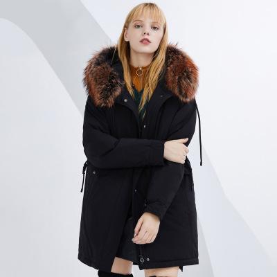 BOSIDENG брэндийн өвлийн эмэгтэй зузаан куртка B80141130 155/80A хар8056
