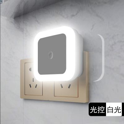 (买2发3)小夜灯插电led光控感应创意婴儿喂奶起夜光卧室床头灯