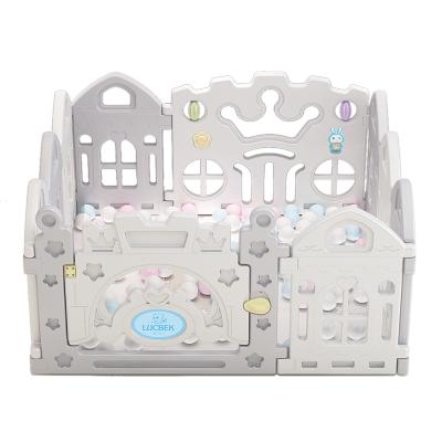 鲁咔贝卡 儿童婴儿游戏围栏 婴儿童学室内游戏步安全护栏栅栏宝宝爬行垫海洋球围栏 8+2 1.2米×1.2