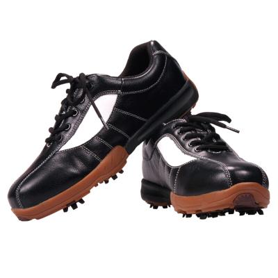 登路普(DUNLOP) 高尔夫球鞋 男士 高尔夫鞋 牛皮鞋 防水透气鞋 运动休闲鞋 活动钉