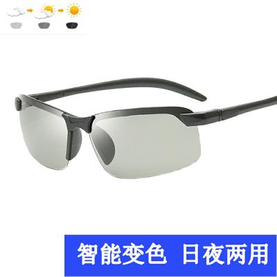 歐萊歐眼鏡CAOREN ZIWO智能感光變色偏光太陽鏡日夜男兩用開車駕駛釣魚墨鏡