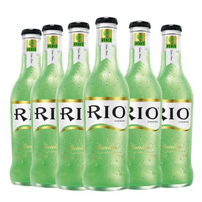 锐澳(RIO)洋酒 鸡尾酒 预调酒果酒 青柠味 275ml*6瓶