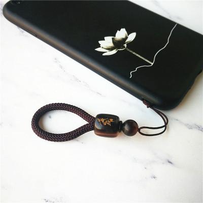 當世 定制中國風珠手機掛繩掛墜短款手機殼指環扣掛件男女u盤吊飾繩子