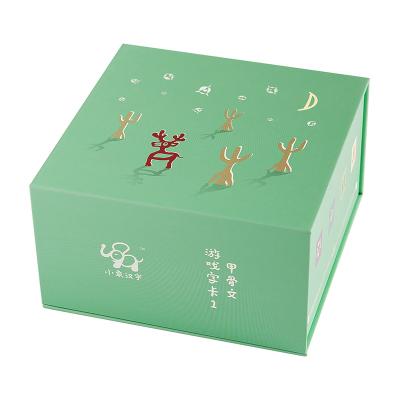 小象漢字甲骨文識字卡全套游戲字卡綠閃卡 象形文字幼兒卡片書 0-3-4-6歲寶寶學齡前兒童識字書 直映認字正版教材