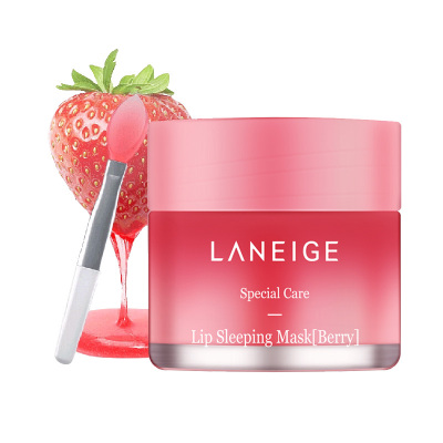 蘭芝(Laneige)唇膜唇膏 夜間滋潤保濕祛死皮淡化唇紋護理 草莓唇膜 20g