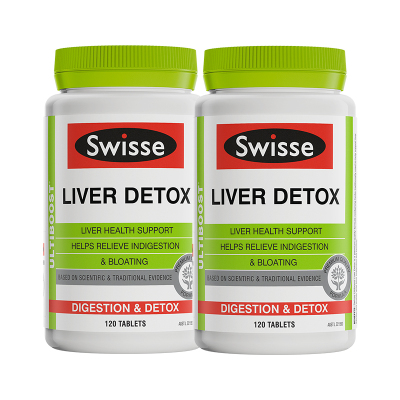 【解酒護肝】2件裝|Swisse 護肝片 奶薊草肝臟排毒片120片