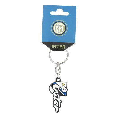 國際米蘭足球俱樂部Inter Milan簡約汽車掛件金屬精靈蛇鑰匙扣
