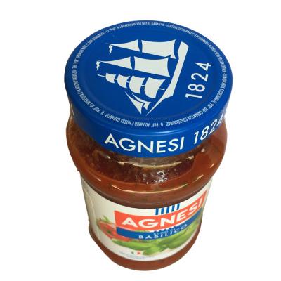 意大利进口安尼斯Agnesi意大利面酱 拌面酱意面酱披萨酱400g意大利面调味酱 罗勒意面酱