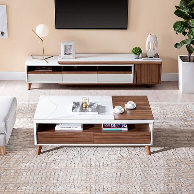 芝华仕简约现代创意茶几电视柜组合北欧伸缩小户型客厅PT007