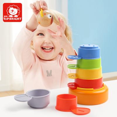 特寶兒(topbright)動物套杯疊疊高 寶寶益智嬰兒玩具 男孩女孩兒童玩具120322