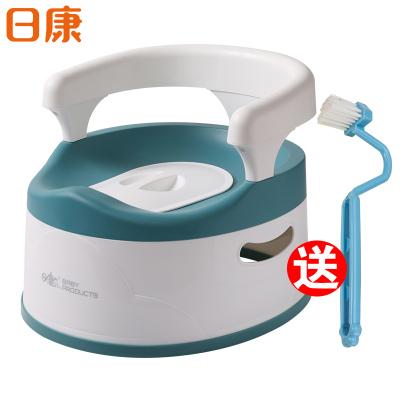日康rikang嬰幼兒坐便器成長馬桶PP材質男女寶寶座便器抽屜拉式兒童便尿盆加大號帶抽屜RK-3696【深藍色】