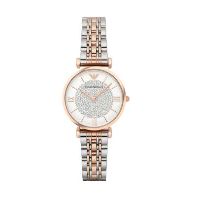 海外直郵歐美品牌原裝進口包稅阿瑪尼,EMPORIO.ARMANI手表時尚女表鋼帶女士石英表 女AR11244