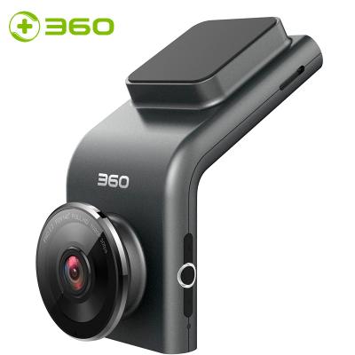 360车载行车记录仪 G300 卡片机迷你隐藏 1080P高清夜视 手机WIFI连接 测速电子狗一体 黑灰色