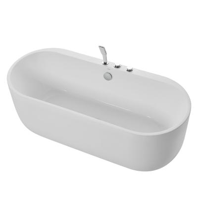 九牧JOMOO小戶型橢圓形亞克力浴缸衛生間式浴池家用普通浴盆Y077