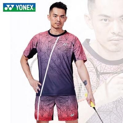 尤尼克斯(YONEX)羽毛球服球服上裝2020年夏季短款短袖林丹同款110010BCR速干透氣短褲短裙 團隊隊服情侶套裝