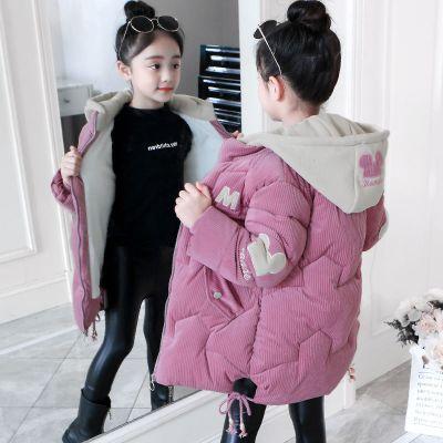 【精品特卖】女童棉衣外套2019冬装新款韩版儿童中长款加厚棉服女孩羽绒棉棉袄 迈诗蒙