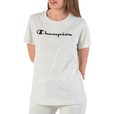【直营】Champion冠军 潮牌 女士纯棉字母胸前logo圆领短袖T恤 111436
