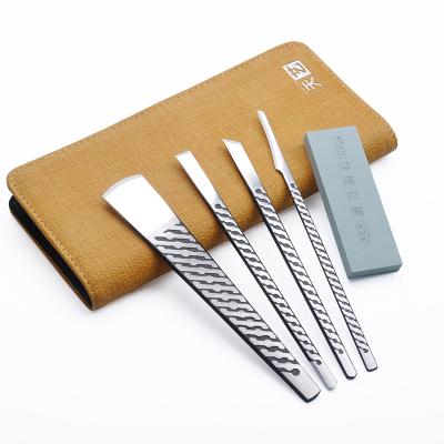 天艺扬州三把刀专业修脚刀套装锁纹锋钢修脚刀4件套已开锋 技师版