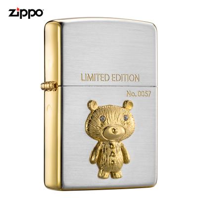 zippo之宝打火机美国原装ZIPPO防风煤油打火机站立的小熊ZBT-3-154a