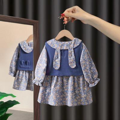 越彬女童套裝秋裝2020新款嬰幼兒女洋氣公主1兩件套裙3歲小童秋季兒童套裝