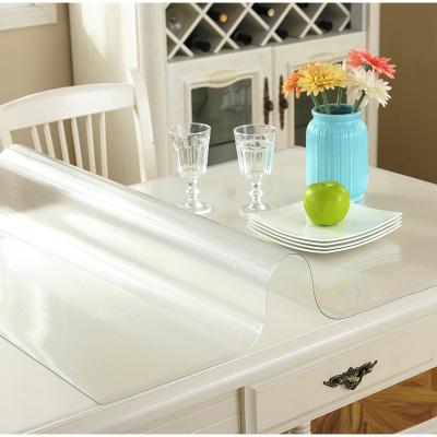 迈布庭 软塑料玻璃桌布茶几垫pvc餐桌垫防水防烫防油免洗塑料透明餐桌垫胶垫水晶板免费裁剪可定制