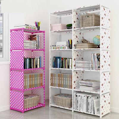 閃電客簡易書架置物架落地桌上書柜簡約現代小學生兒童組合收納儲物架子