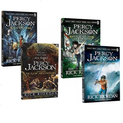 漫畫版第一季 Percy Jackson Graphic Novels 波西杰克遜 全彩漫畫小說4冊 魔獸之海/迷宮