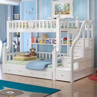 歐梵森 小熊多功能床子母床兒童床高低床上下床實木床子母床簡約現代木質兒童雙人床兩層床多功能男孩女孩高低床雙層床