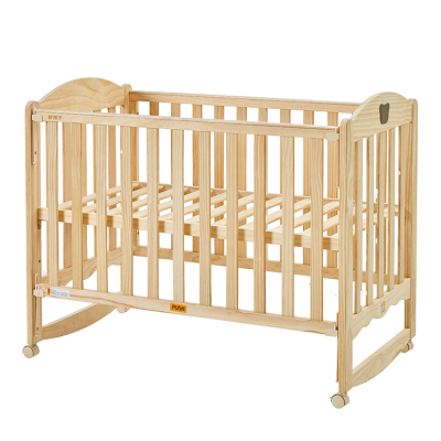 gb好孩子婴儿床实木无漆宝宝摇篮床多功能儿童床拼接大床MC115送蚊帐