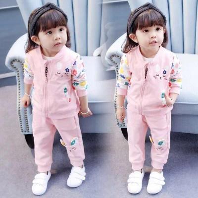 香忊 童裝女童套裝春裝兩件套春秋季2020新款兒童套裝小童寶寶嬰幼兒小孩衣服1-2-3-4-5歲