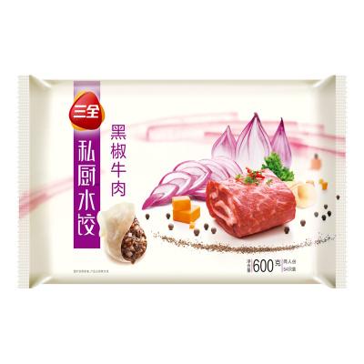 三全私廚水餃 黑椒牛肉 速凍餃子 兩人份600g (54只)