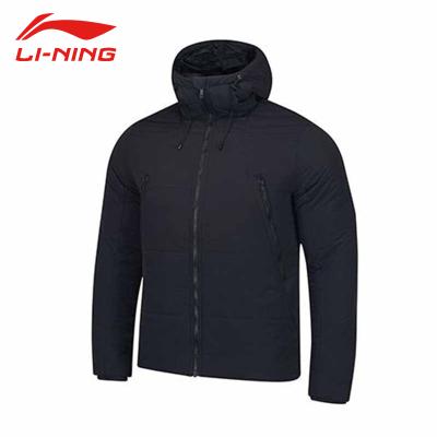 李宁(LI-NING)正品短款棉衣男冬季保暖运动舒适短棉服连帽休闲外套