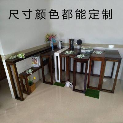長桌窄長條桌子條形桌椅供桌實木玄關臺客廳玄關桌簡約玄關柜定制
