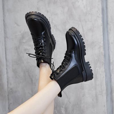 策恩公牛mona同款鞋馬丁靴女2020秋季新款英倫切爾西煙筒靴女學生短靴