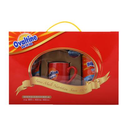 阿华田可可粉早餐 下午茶 精美年货礼盒 400g袋装+400g听装 礼盒装800g附赠杯勺