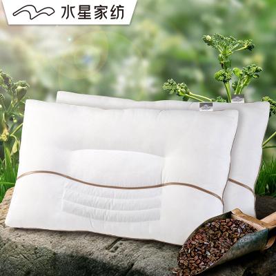 水星家紡決明子枕頭芯單人枕芯一對裝成人家用頸椎枕蕎麥