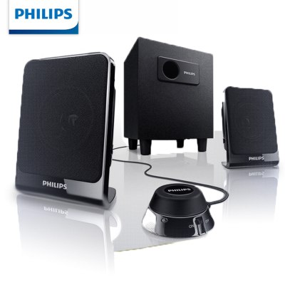 Philips/飞利浦 电脑音箱2.1多媒体低音炮木质小音响