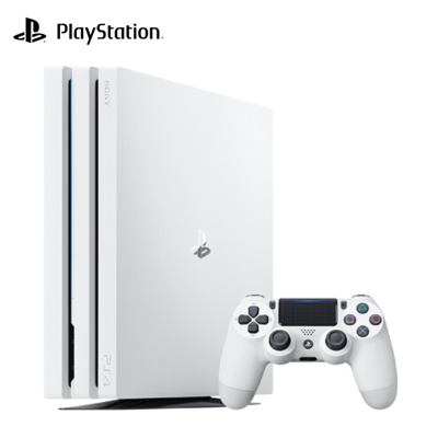 索尼(SONY)PS4 Pro PlayStation國行游戲機 1TB主機(白色)