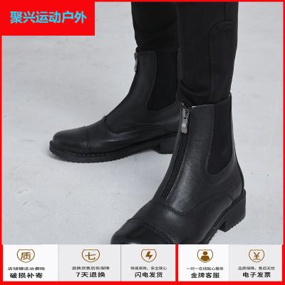 蘇寧運動戶外兒童馬靴牛皮馬術馬靴兒童馬術靴防滑騎士靴兒童單鞋馬靴聚興新款
