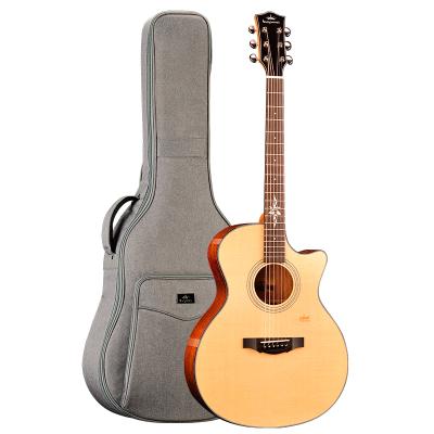 卡馬自營(KEPMA)F1-GA單板民謠吉他指彈吉它jita原木色缺角41英寸