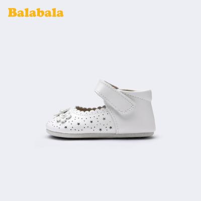 巴拉巴拉官方童鞋女童小皮鞋公主鞋寶寶甜美鏤空2020新款夏季鞋子