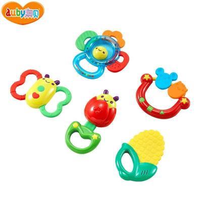 AUBY 澳贝 摇铃系列 放心煮摇铃 5PCS 0-6个月塑料玩具463157DS