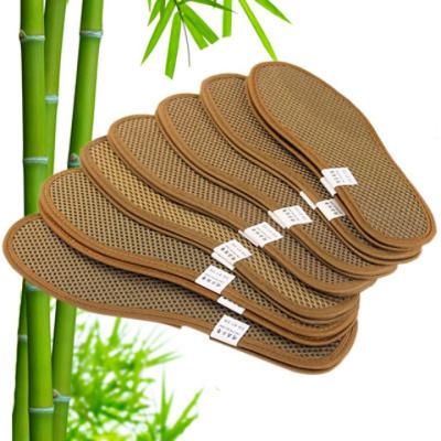 亞麻夏季透氣竹炭除臭鞋墊吸汗透氣防臭去男女式鞋墊顏
