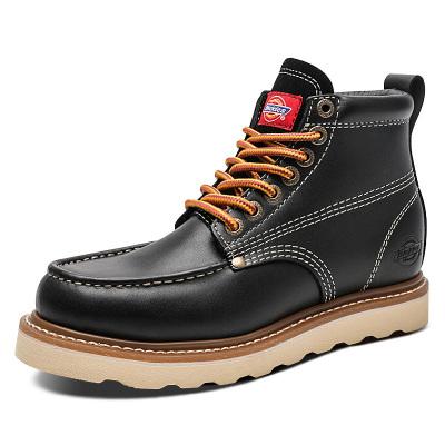 Dickies馬丁靴男高幫工裝靴子2019秋冬季新款英倫風皮靴真皮短靴加絨保暖工裝靴194M50LXS34