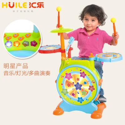 匯樂旗艦店666悅動爵士鼓兒童寶寶爵士鼓初學者架子鼓早教敲打樂器1-3-6歲男女孩玩具