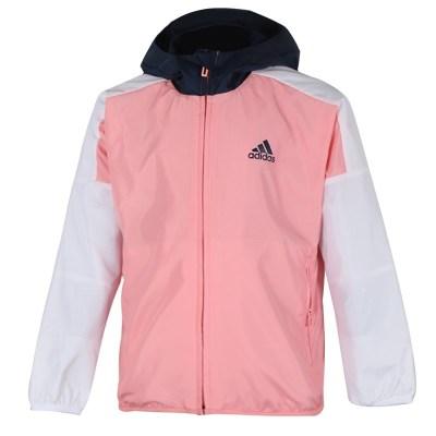 阿迪達斯(adidas)2020春季男女小童訓練運動梭織夾克外套FM9727