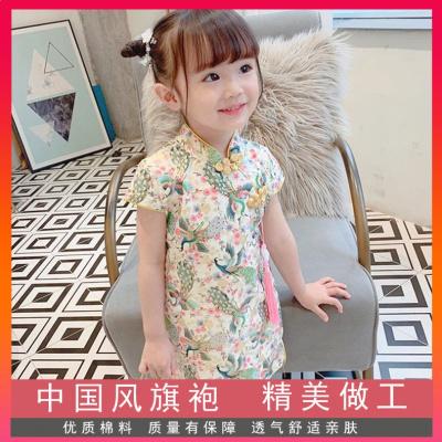 HKCP2020新款女裝童裝公主裙春夏季裙子女童中國風漢服兒童旗袍連衣裙